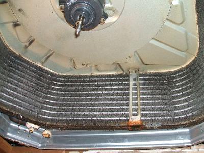 アルミフィン(熱交換器)の汚れた状態